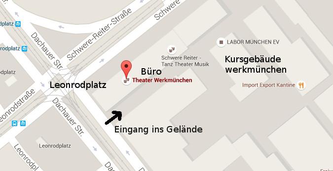 Theater Werkmünchen - Karte